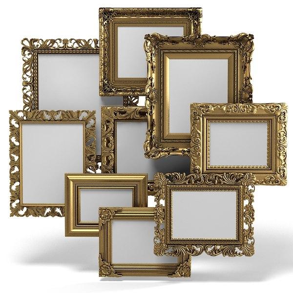 3d frames models max 3ds obj fbx c4d