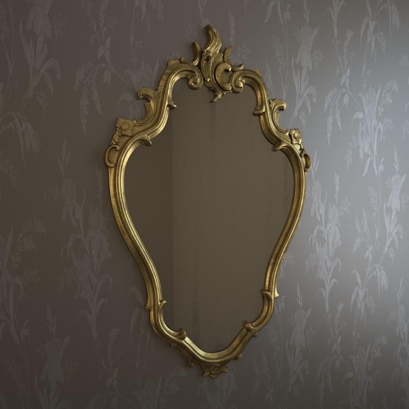 3d frame mirror miror model for Mirror 3d model