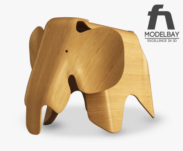 Eames plywood elephant Texture Maps