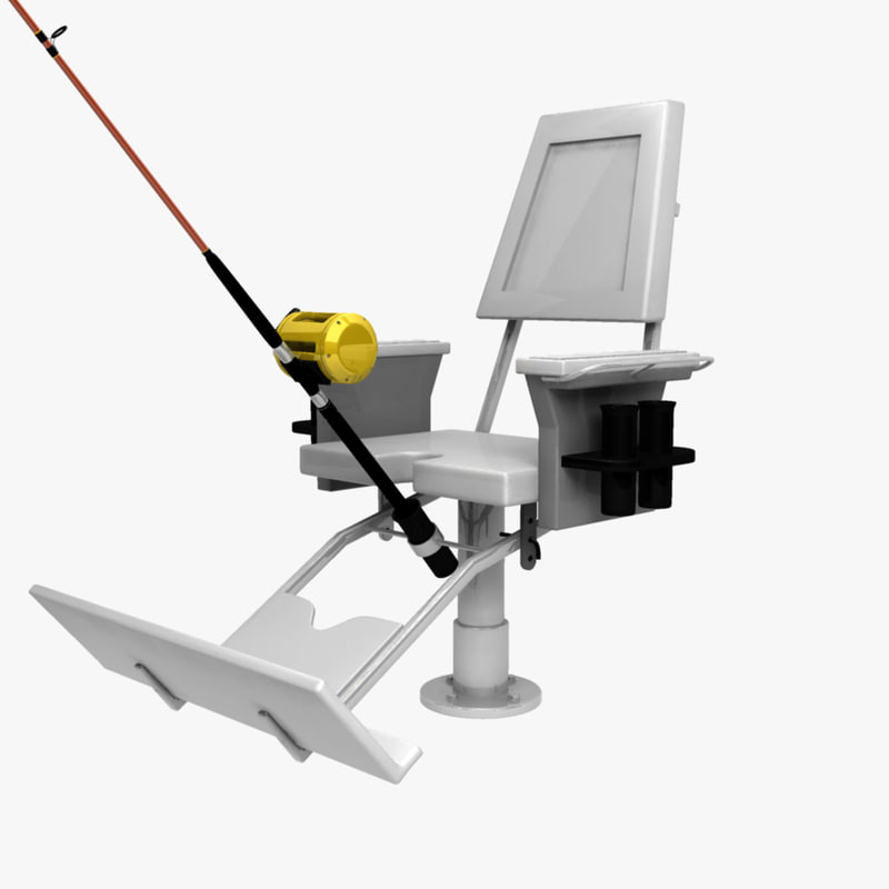 3d obj fish fighting chair