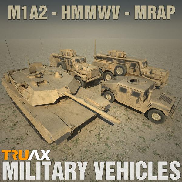 Military Vehicles 3D Models