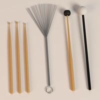 Drum Accessories 3D models
