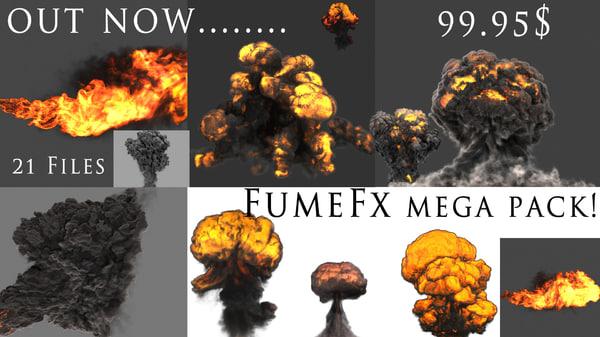 FumeFX Mega Pack 3D Models