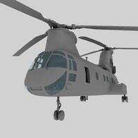 Boeing Vertol CH-46 Sea Knight 3D models