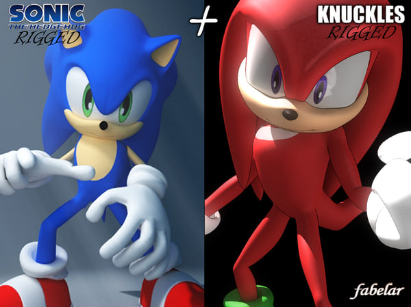 Sonic & Knuckles rigged 3D Models