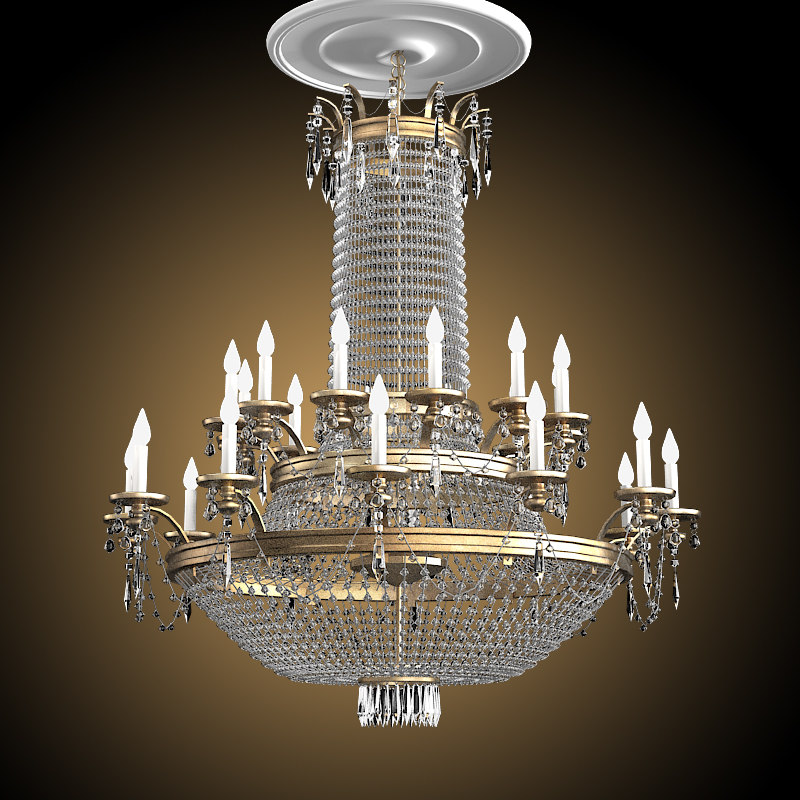 Big Chandelier Crystal Swarowski glass canle light lamp ceiling classic entrance lobbi.jpg
