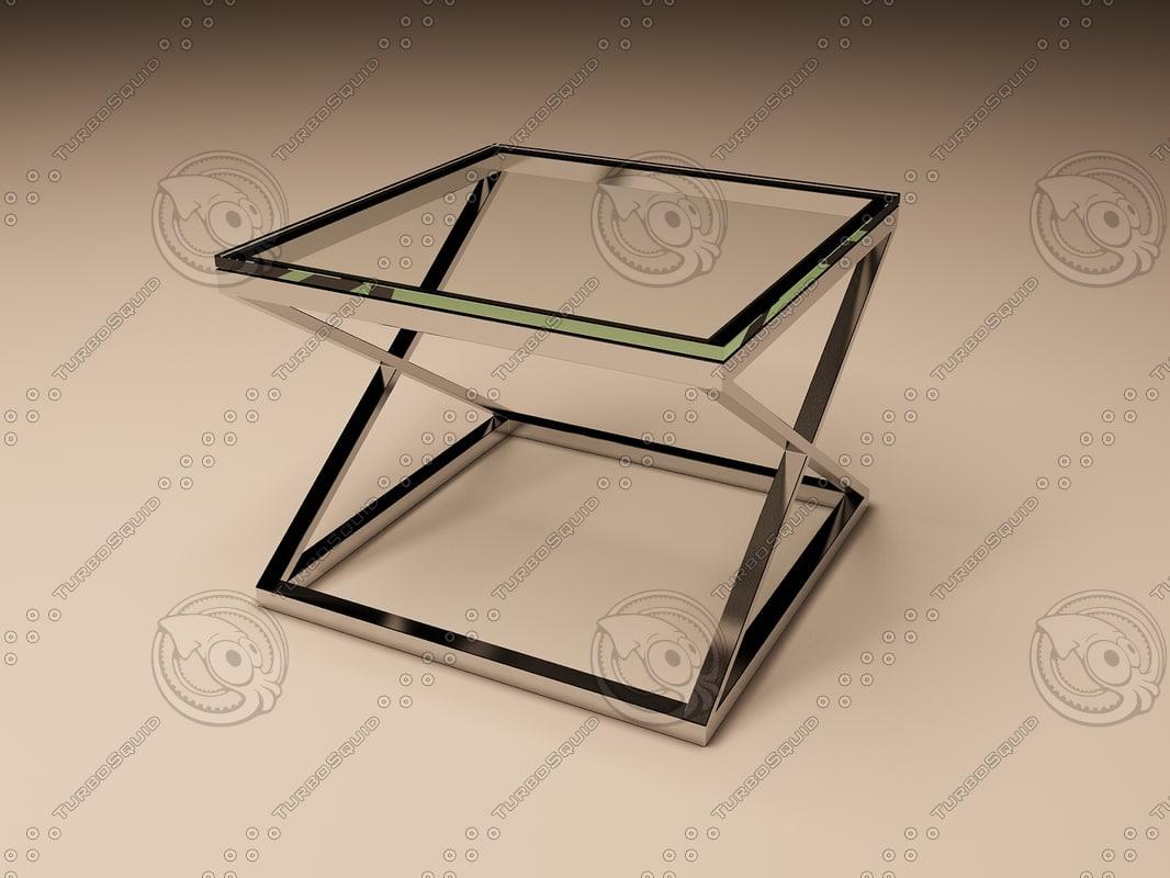 Eichholtz Table Side Criss Cross Square