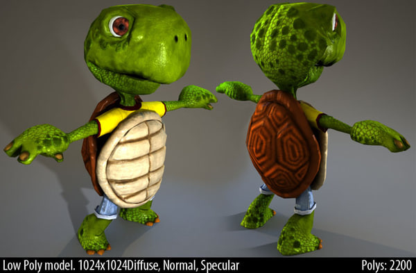 Comic Turtle 3D Models