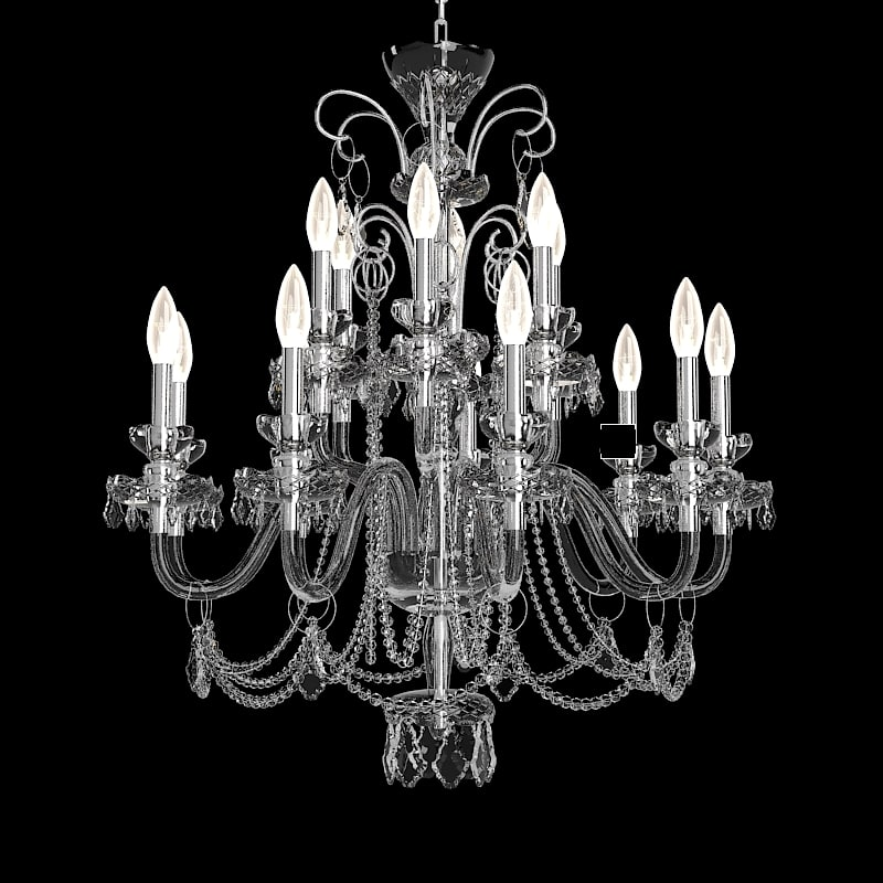 Faustig 462021 Crystal Swarowski Candle Chandelier