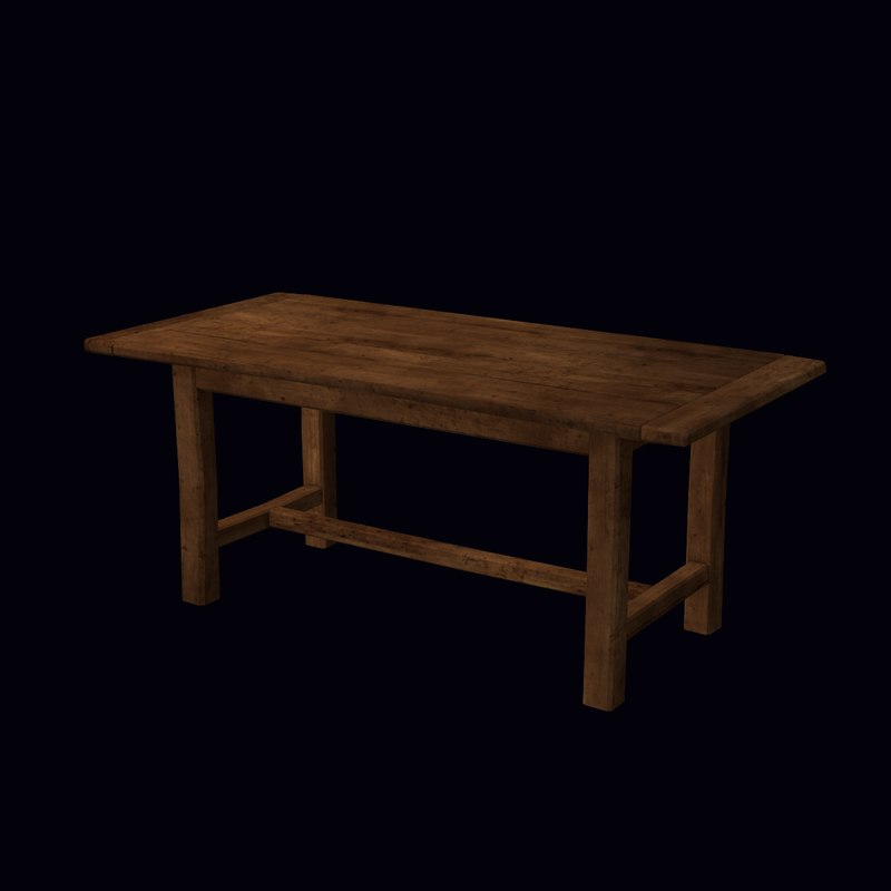 Old Table, Low Poly