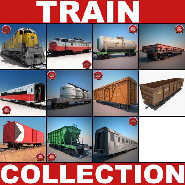 Trains Collection v4 3D Models