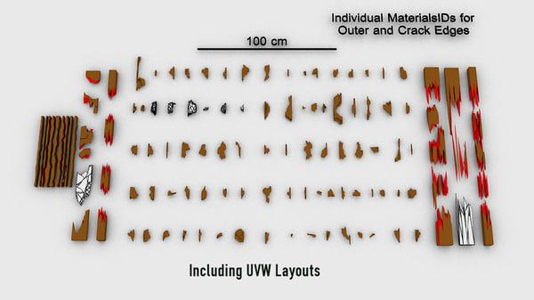 Wood Debris for VFX 3D Models