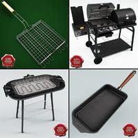 grill pan 3D models