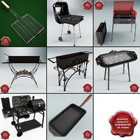 grill basket 3D models
