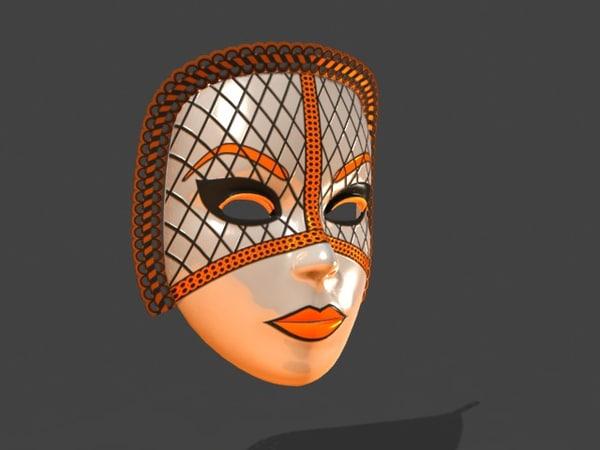 Venetian Carnival Mask 13 3D Models