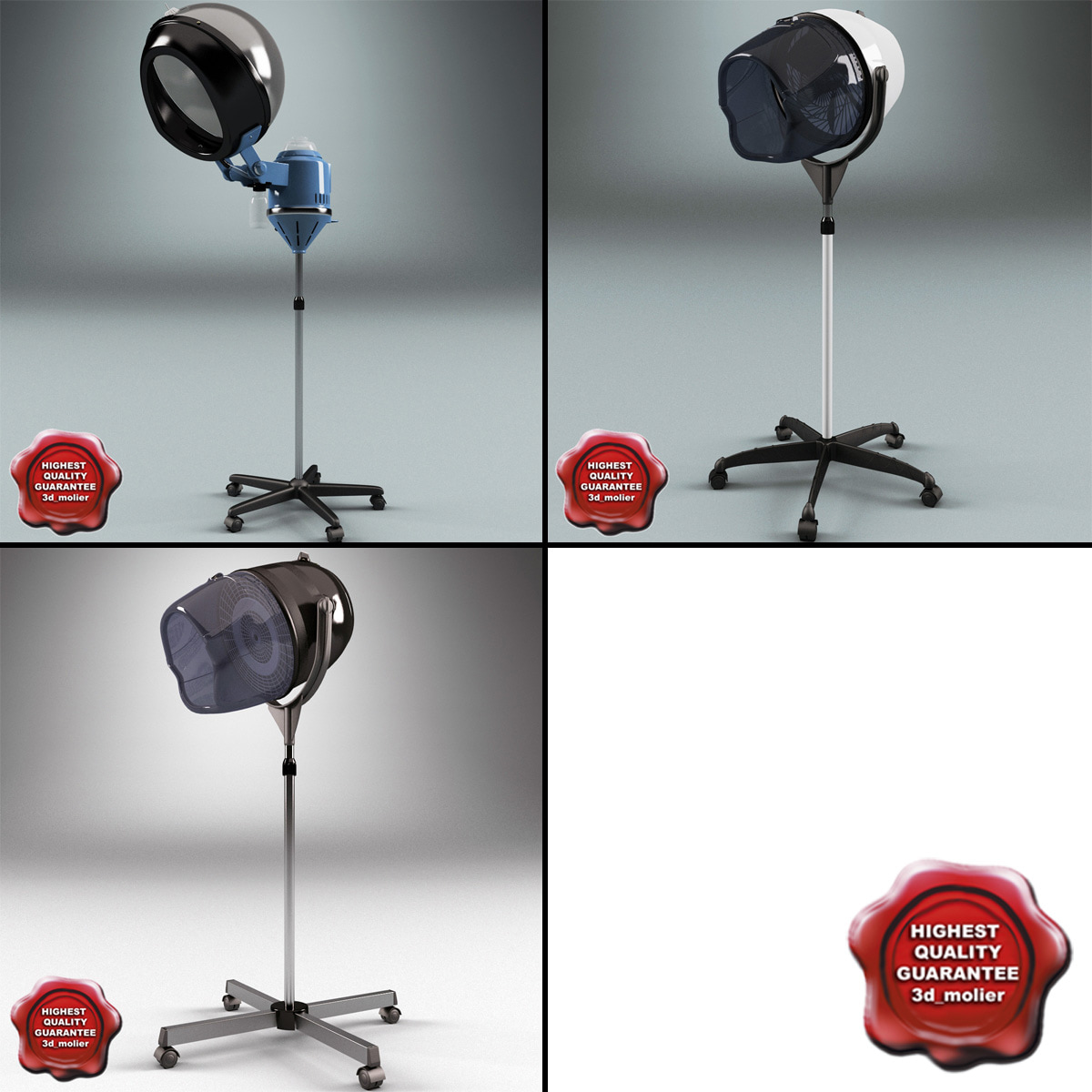 Max salon stand hair dryers for Salon stand