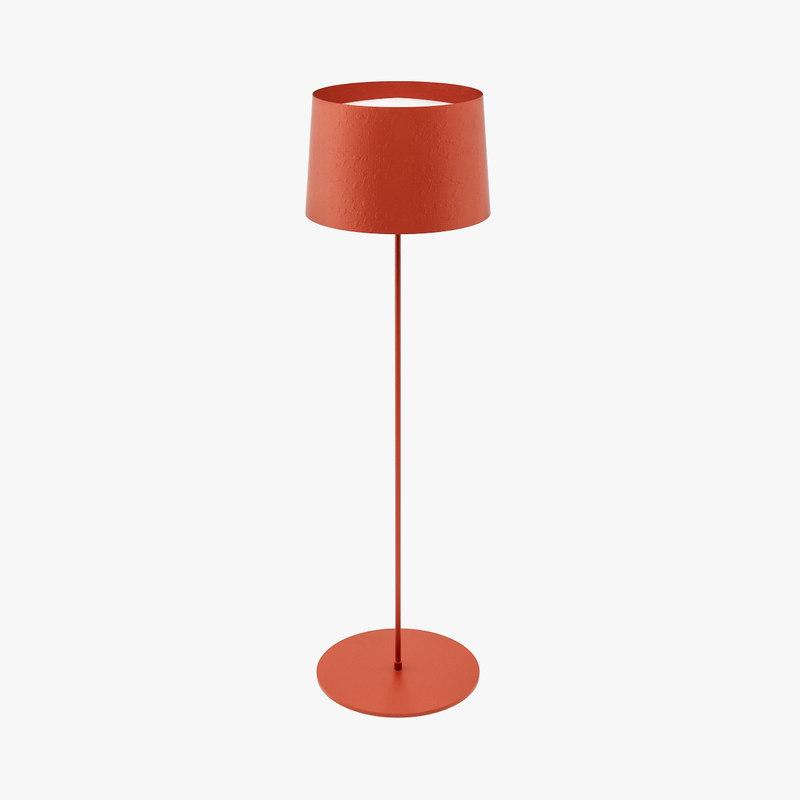 3d model marc twiggy for Reading lamp floor model