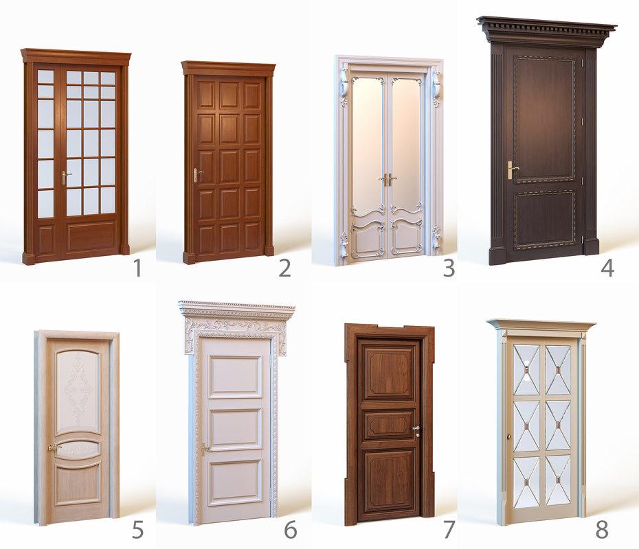 Classic doors 3d max for Door 3d model