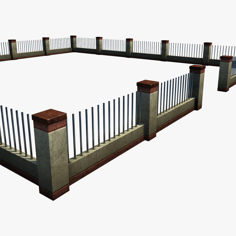 3d model of ready fence for 3d fence