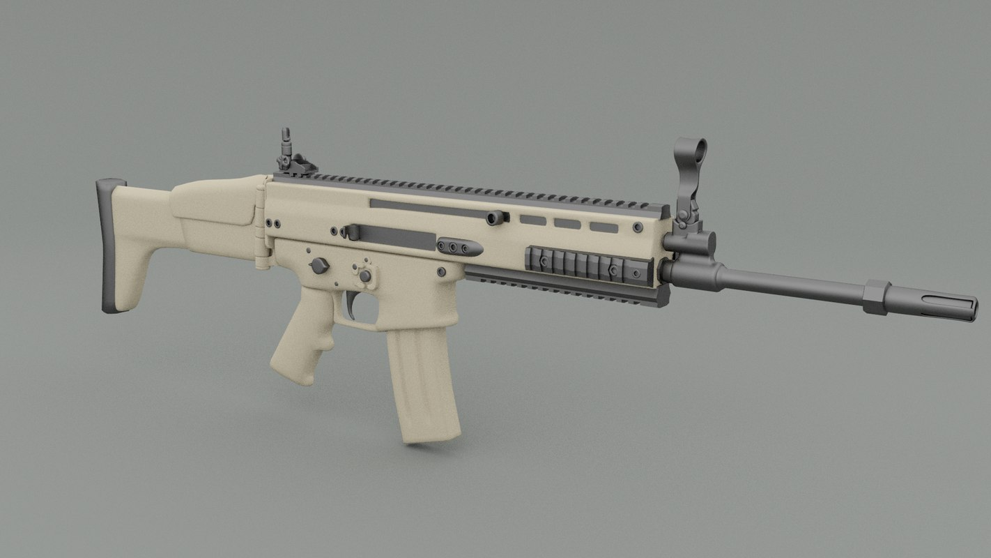 Guns The Military Uses >> fbx scar machine gun