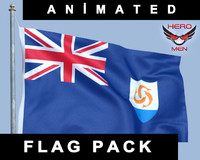 anguilla flag 3D models