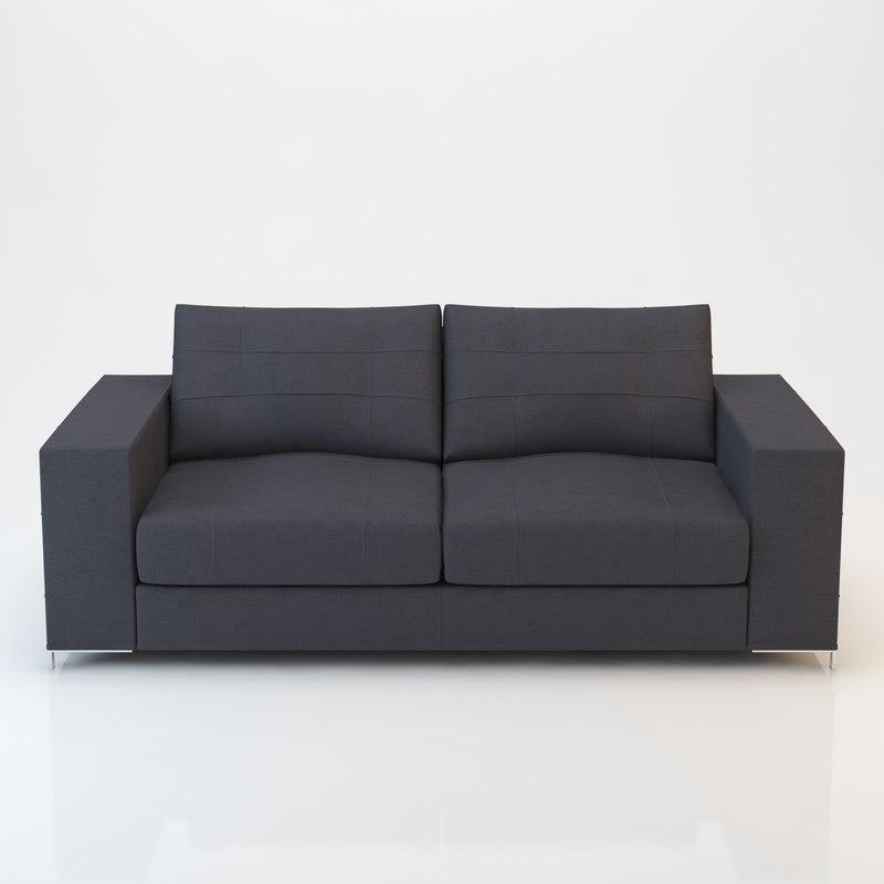 Barcelona sofa 190x97 3ds for Sofas 4 plazas barcelona