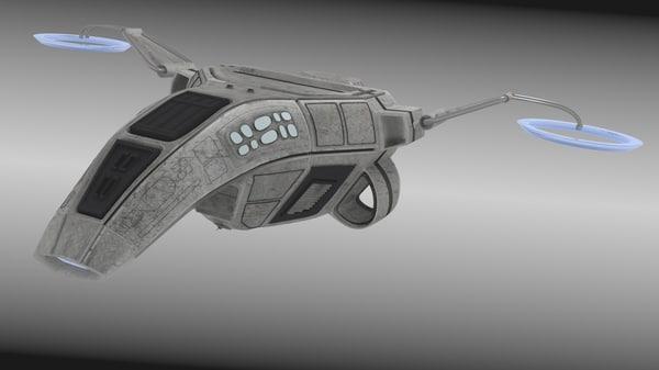 W*A*S*P* Scoutship 3D Models