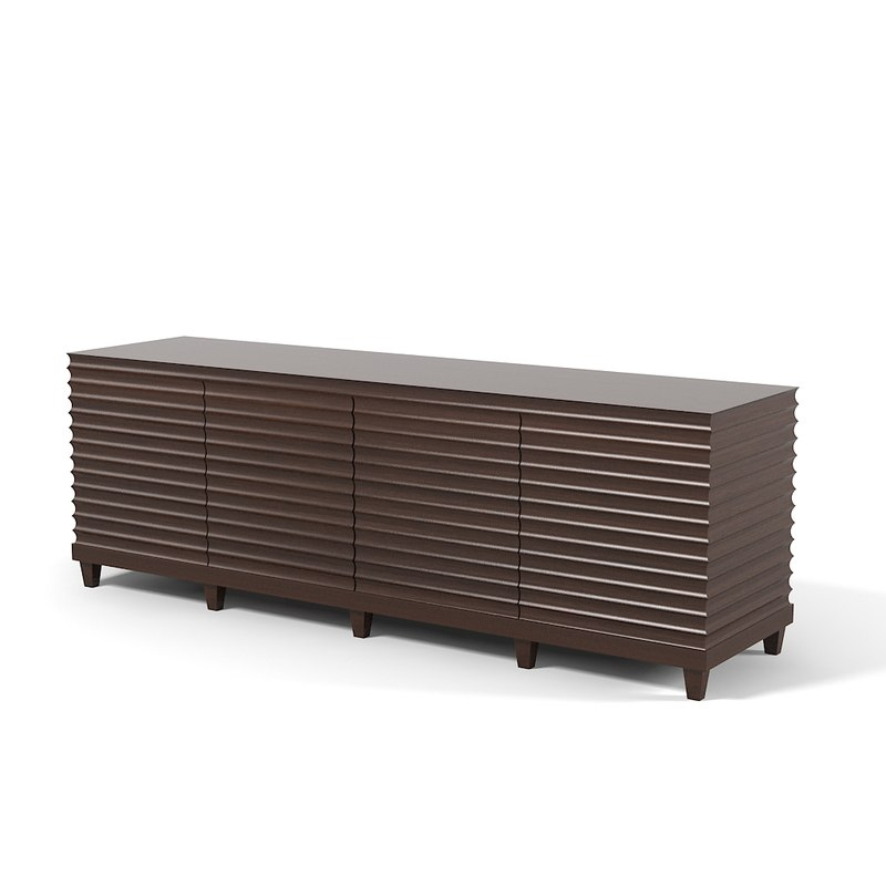 Baker Fluted Low Cabinet Commode Sideboard Barbara Barry collection 3400 art deco modern contemporary0001.jpg