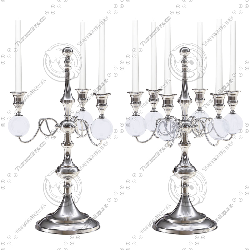 Set of Eichholtz Candle Holders Santa Lucia 3 and 6 Arm