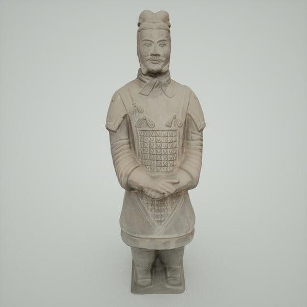 Terracotta Army Warrior 3D Models