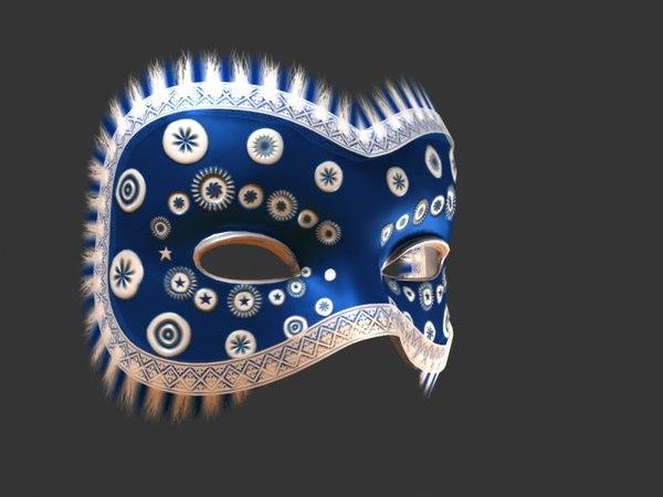 Venetian Carnival Mask 20 3D Models