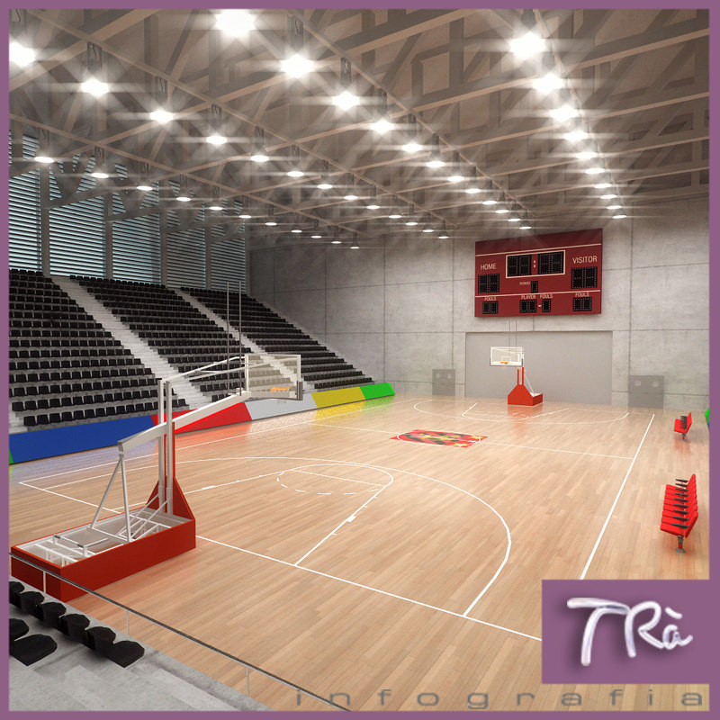 basketball on basketball court basketball court indoors wallEmpty Indoor Basketball Court