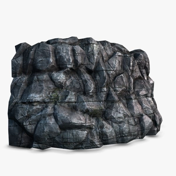 High Quality Rocky Cliff model 02 Texture Maps