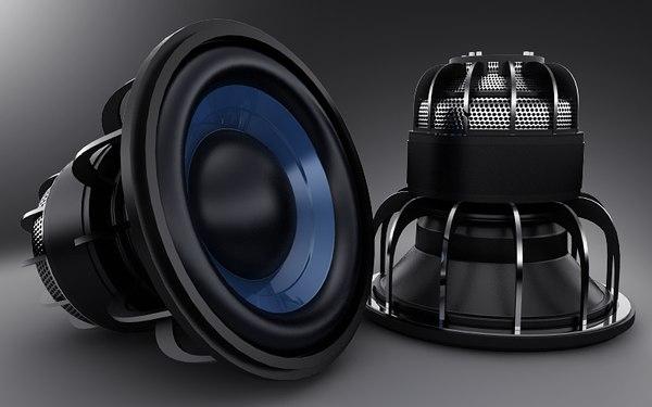bass speaker for car 3D Models
