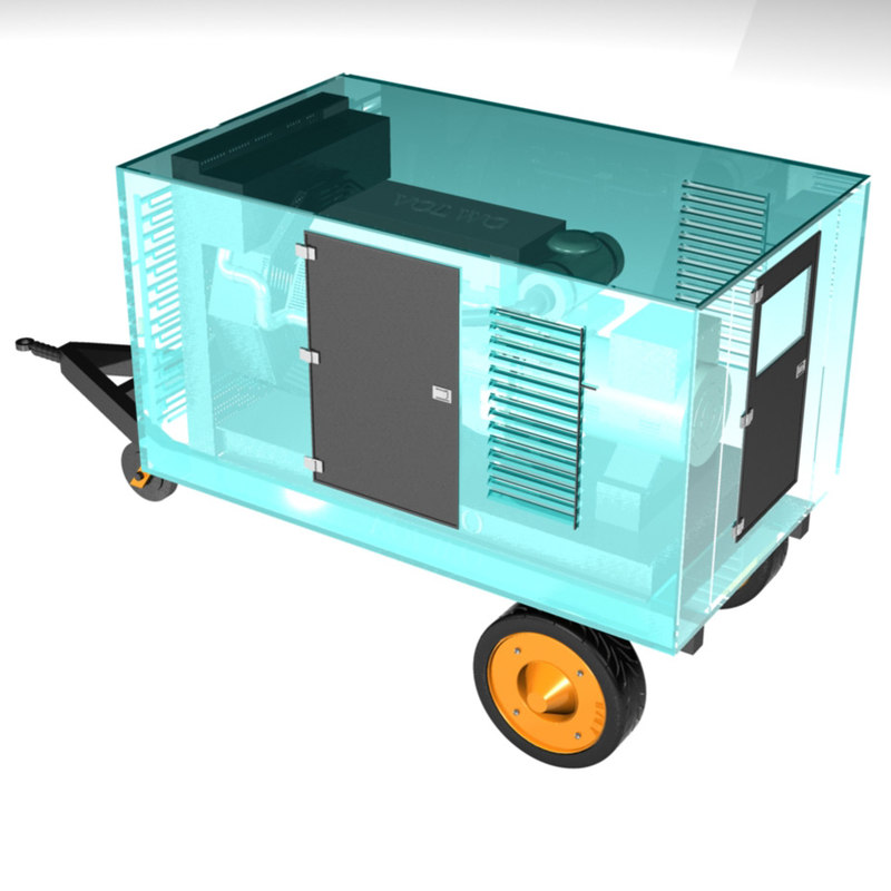 Mobile Generator Glass 3d Model
