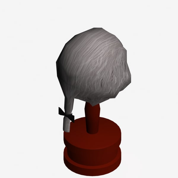 17th Century Wig 3D Models