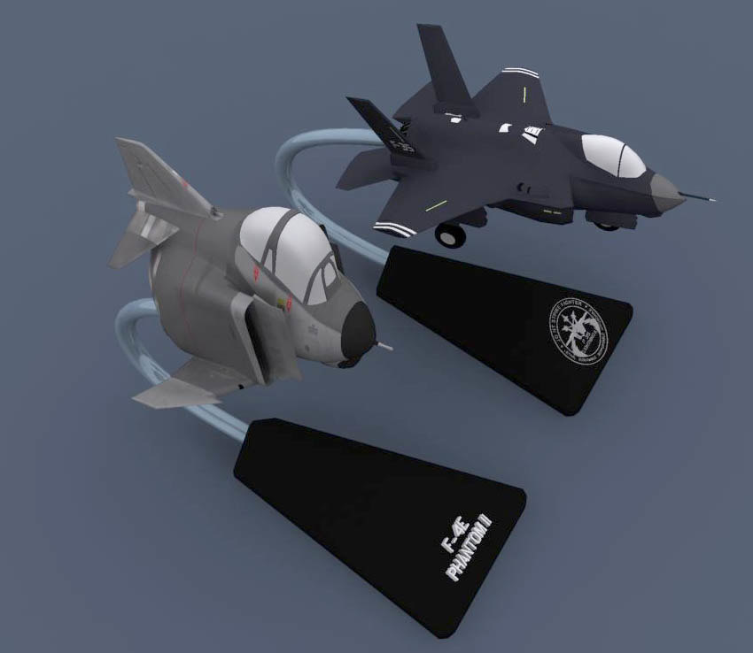 F-4 and F-35 egg plane