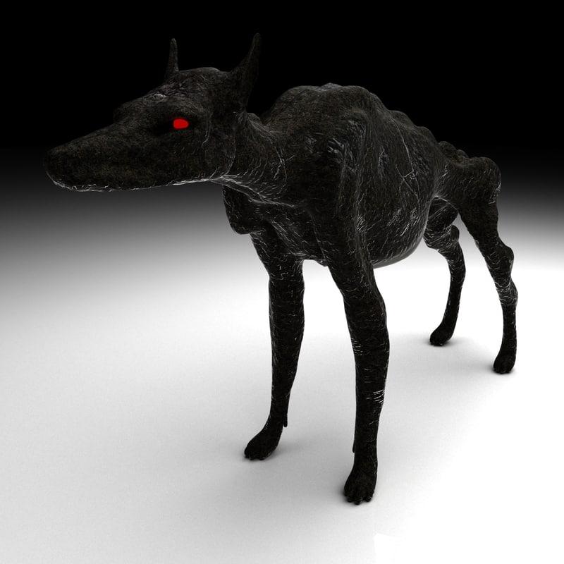 3d hound hellhounds model