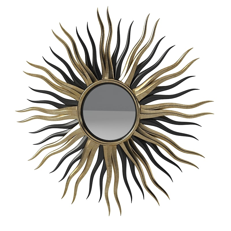 sun mirror black and gold wall round luxury rays home cssessory decor modern contemporray 0001.jpg