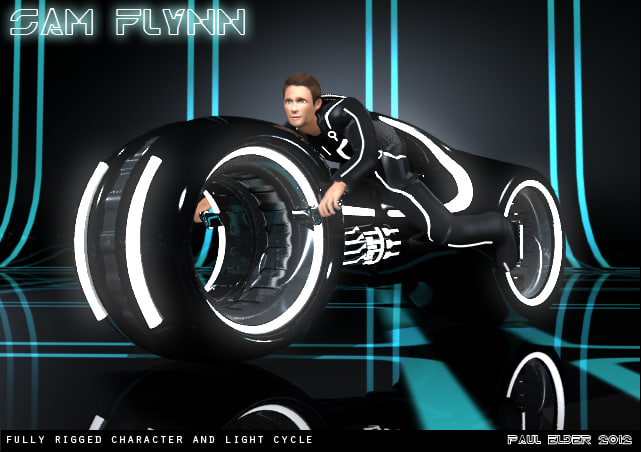 sam light cycle 3d model