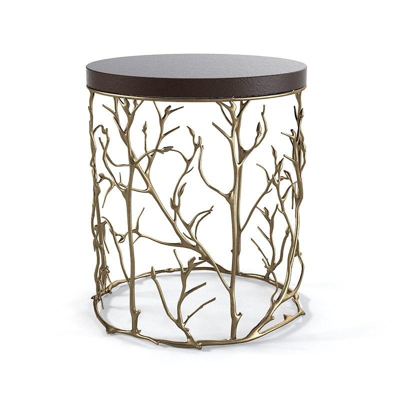 Koket Love Happens Round Side Table Branch Tree Art Designer Modern