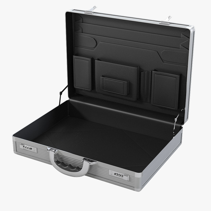 open aluminum briefcase max