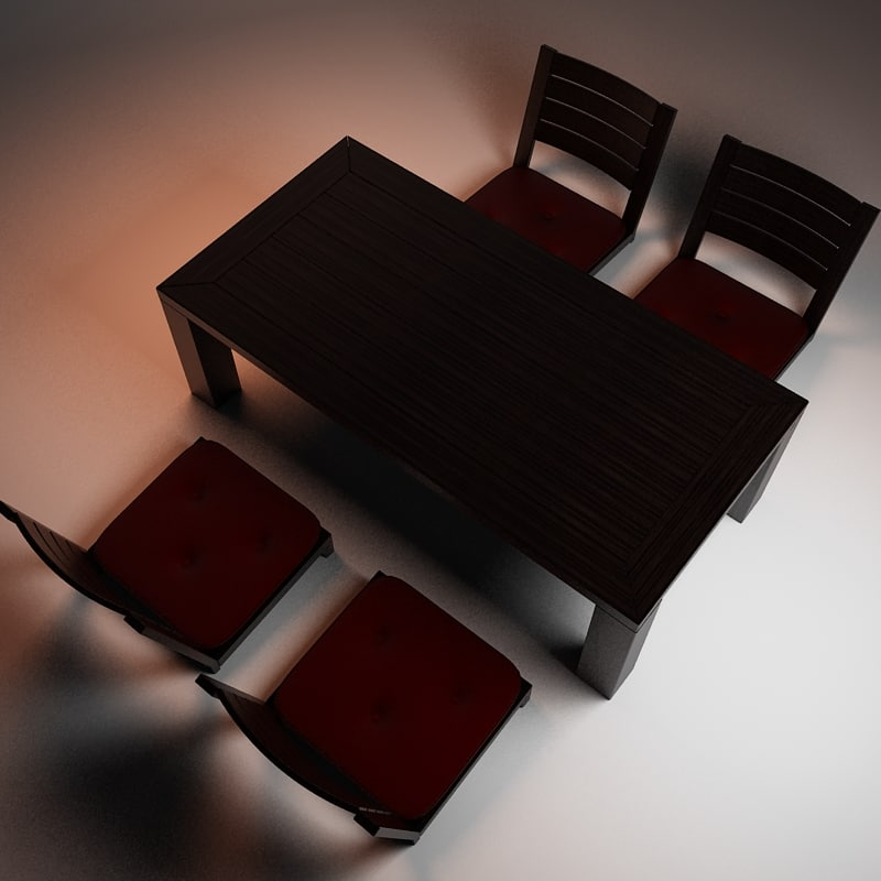 Table and chairs set - low