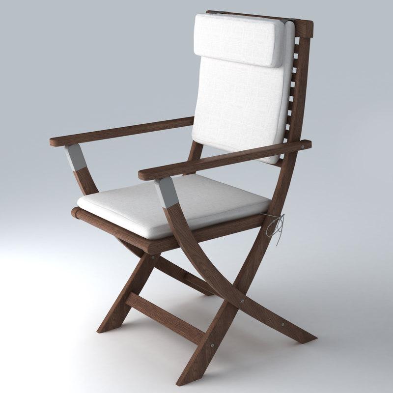Garden chair 3d model for Outdoor furniture 3d model