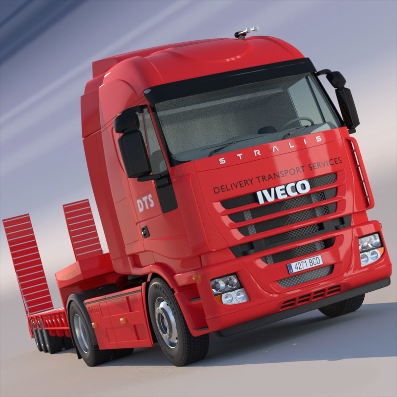 Iveco Stralis with Flatbed Semitruck