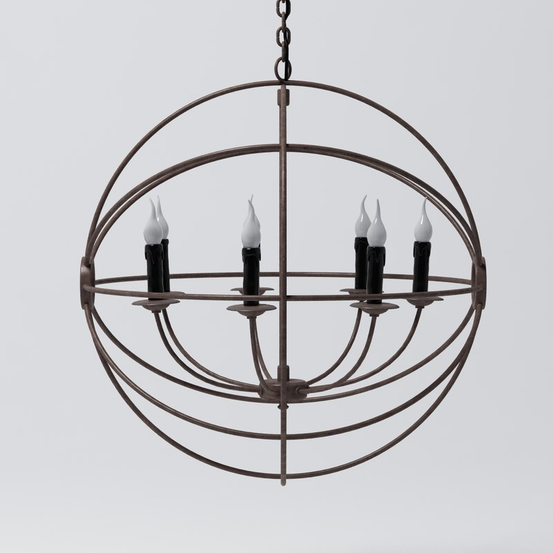 Foucault's Iron Orb Chandelier Medium0000.jpg