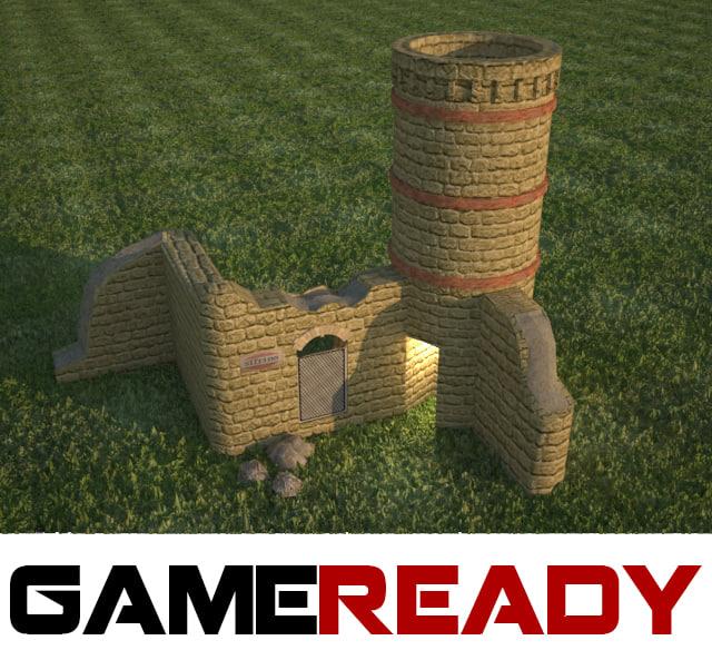 Medieval brick tower