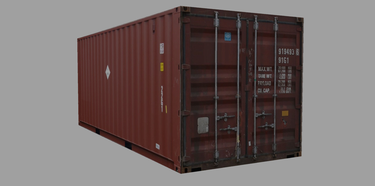 3d container teu 20ft