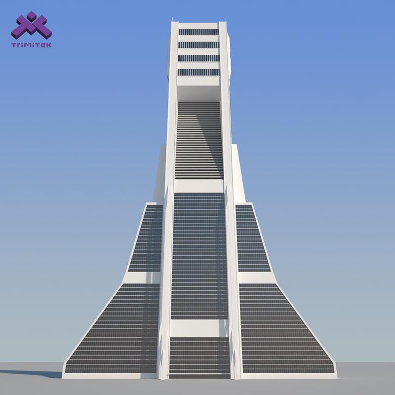 3d Model Skyscrapers 3d Model Futuristic Sci fi
