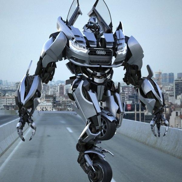 Audi A6 2012 Transformer / Autobot - Rigged 3D Models